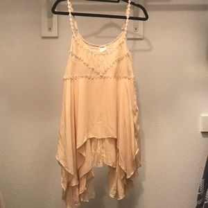 Intimately Free People Cream Pink Dress
